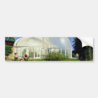 Conservatory at Bicton Gardens, Exmouth, U.K.  flo Car Bumper Sticker