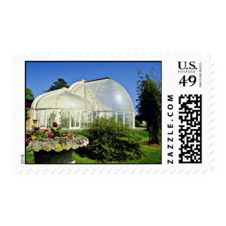 Conservatory at Bicton Gardens, Exmouth, U.K.  flo Postage Stamp
