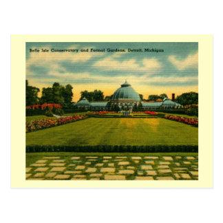Conservatory, Belle Isle, Detroit Vintage Postcard