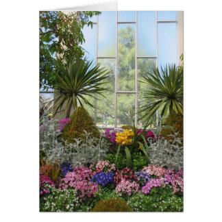 Conservatory flowers card