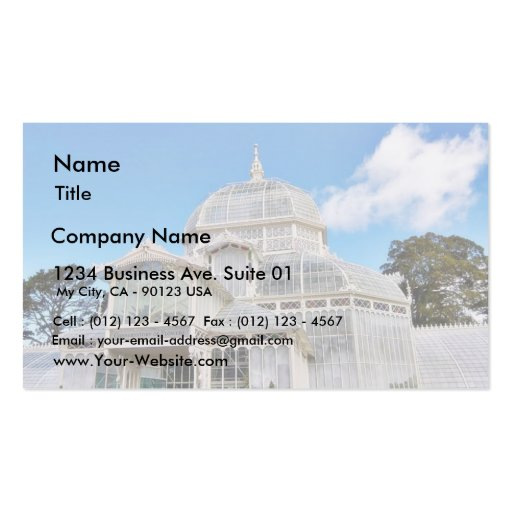Conservatory Of Flowers In Golden Gate Park In San Double-Sided Standard Business Cards (Pack Of 100)