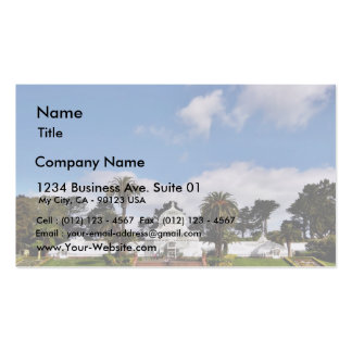 Conservatory Of Flowers In San Franciscos Golden G Business Card Template