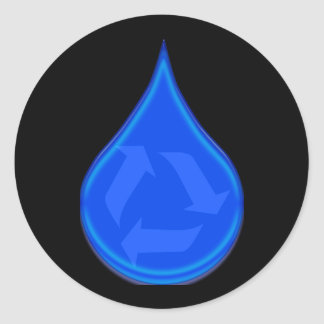 Conserve and Save Water Classic Round Sticker