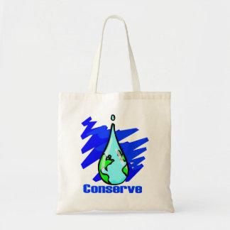 Conserve el agua bolsa tela barata