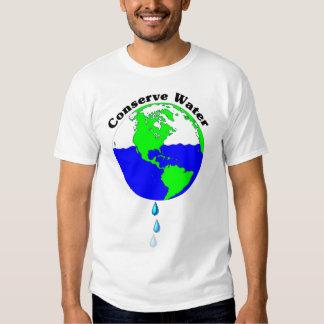 Conserve el agua camisas