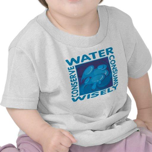 Conserve el agua camiseta