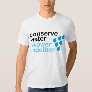 Conserve el agua, ducha junta playera