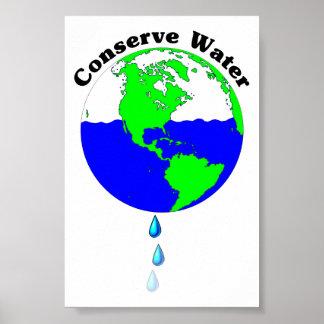Conserve el agua poster