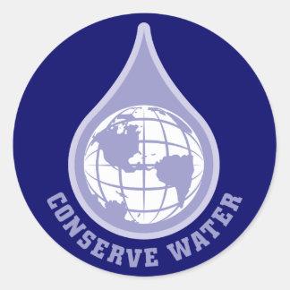 Conserve el agua etiqueta