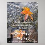 ¡Conserve el agua! Poster