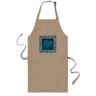 Conserve el agua - uso sabiamente delantal largo
