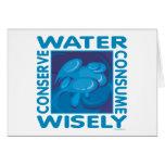Conserve el agua - uso sabiamente felicitacion
