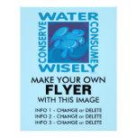 Conserve el agua - uso sabiamente tarjetón