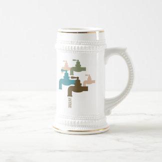 Conserve el grifo de agua tazas de café
