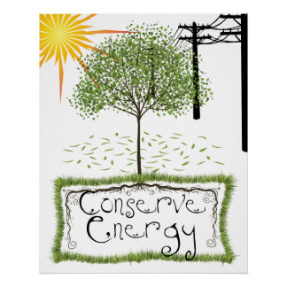 Conserve Energy Colassal Print  Poster