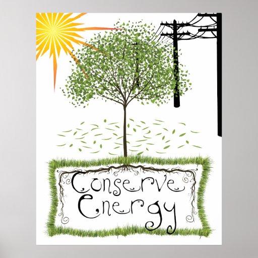 Conserve Energy Colassal Print  Poster