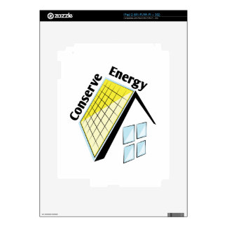 Conserve Energy Decals For iPad 2