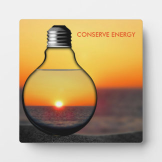 Conserve Energy With Natural Light Abstract Theme Plaque