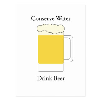 Conserve la cerveza de la bebida del agua tarjetas postales