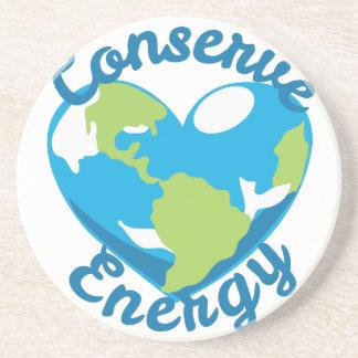 Conserve la energía posavasos de arenisca