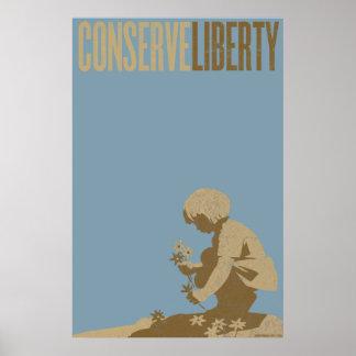 Conserve Liberty Print