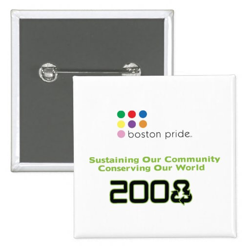 Conserve Square Pinback Buttons