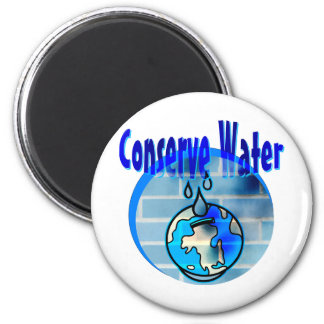 Conserve Water 2 Inch Round Magnet