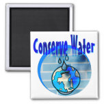 Conserve Water 2 Inch Square Magnet