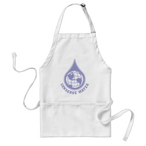Conserve Water Adult Apron