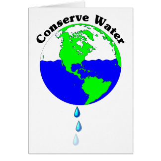 Conserve Water Card