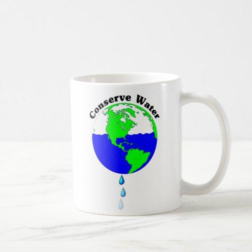 Conserve Water Classic White Coffee Mug