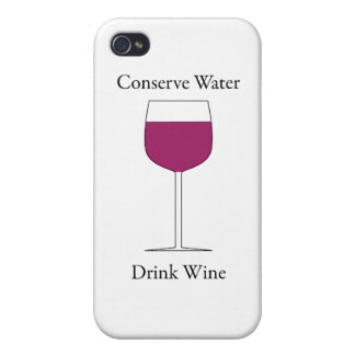 Conserve Water Drink Wine iPhone 4 Covers