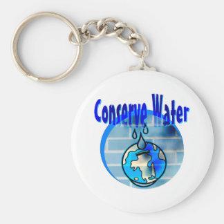 Conserve Water Keychain