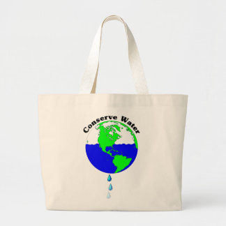 Conserve Water Large Tote Bag