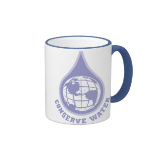 Conserve Water Ringer Coffee Mug