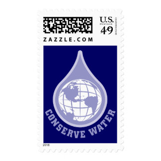 Conserve Water Stamp