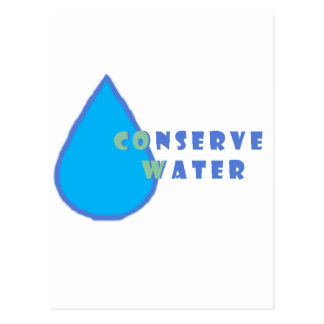 conserve water postcards
