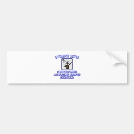 Conserve Water .. Shower .. Prostate Cancer Surviv Bumper Sticker