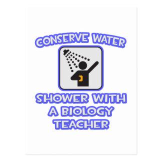 Conserve Water .. Shower With a Biology Teacher Post Card