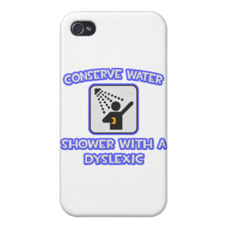 Conserve Water .. Shower With a Dyslexic iPhone 4/4S Cover