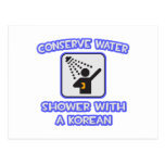 Conserve Water .. Shower With a Korean Post Cards