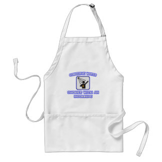 Conserve Water .. Shower With an Insomniac Adult Apron