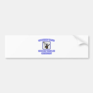 Conserve Water Shower With an Orthotist Bumper Sticker