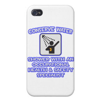 Conserve Water .. Shower With Occ Health Specialis iPhone 4/4S Cases