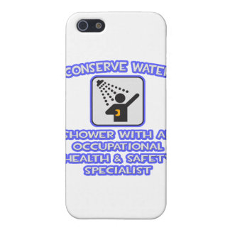 Conserve Water .. Shower With Occ Health Specialis iPhone 5 Covers
