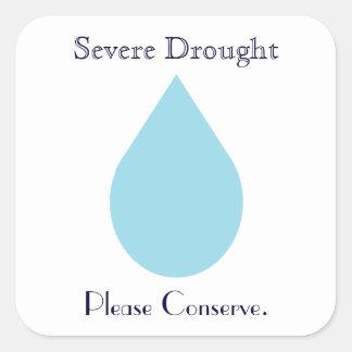 Conserve Water Square Sticker