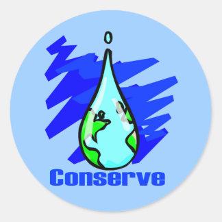 Conserve Water Sticker