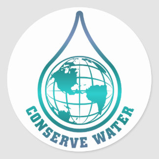 Conserve Water stickers