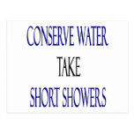Conserve Water Take Short Showers Postcard