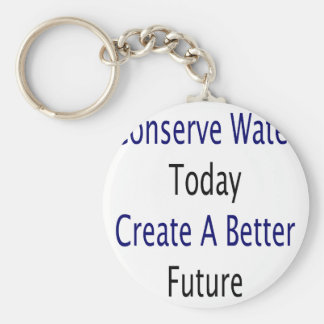 Conserve Water Today Create A Better Future Basic Round Button Keychain